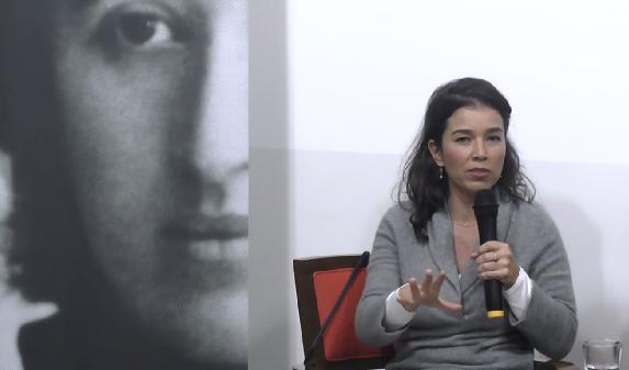 Camila Moreno, durante debate na Fundação Rosa Luxemburgo. Imagem: Reprodução de vídeo