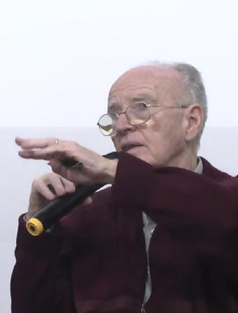 Wladimir Pomar, durante o debate. Imagem: reprodução/vídeo.