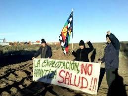 Protest against extraction of petroleum in Vaca Muerta, Argentina. Foto: Sincope