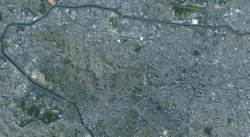 São Paulo. Imagem: Landsat/NASA