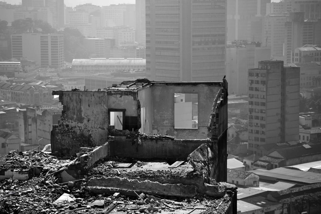 Abriss von Häusern in der Favela Providência (Rio de Janeiro) für den Bau einer Seilbahn