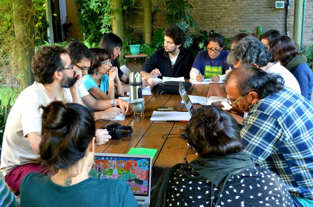Trabajo en comisiones en el marco del taller de la UPMS en Buenos Aires - Foto Sergio Segura