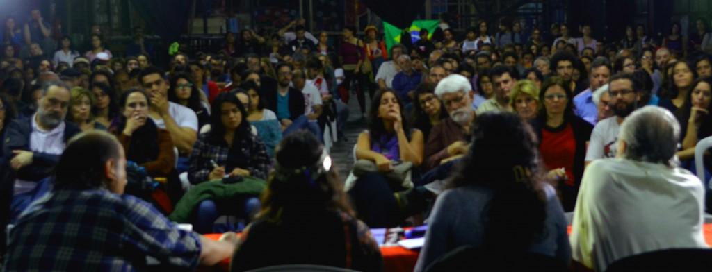 Charla Debate con Boaventura de Sousa Santos, Relmu Ñanku, Esther Quispe y Mauricio Vidal - Foto Sergio Segura