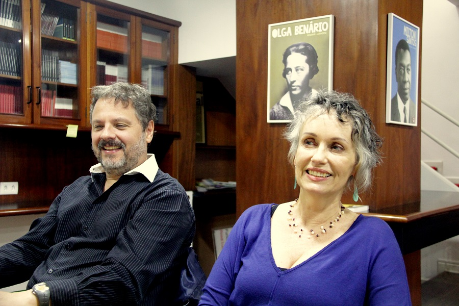A filósofa Isabel Loureiro e o sociólogo Marcelo Ridenti, na Fundação Rosa Luxemburgo