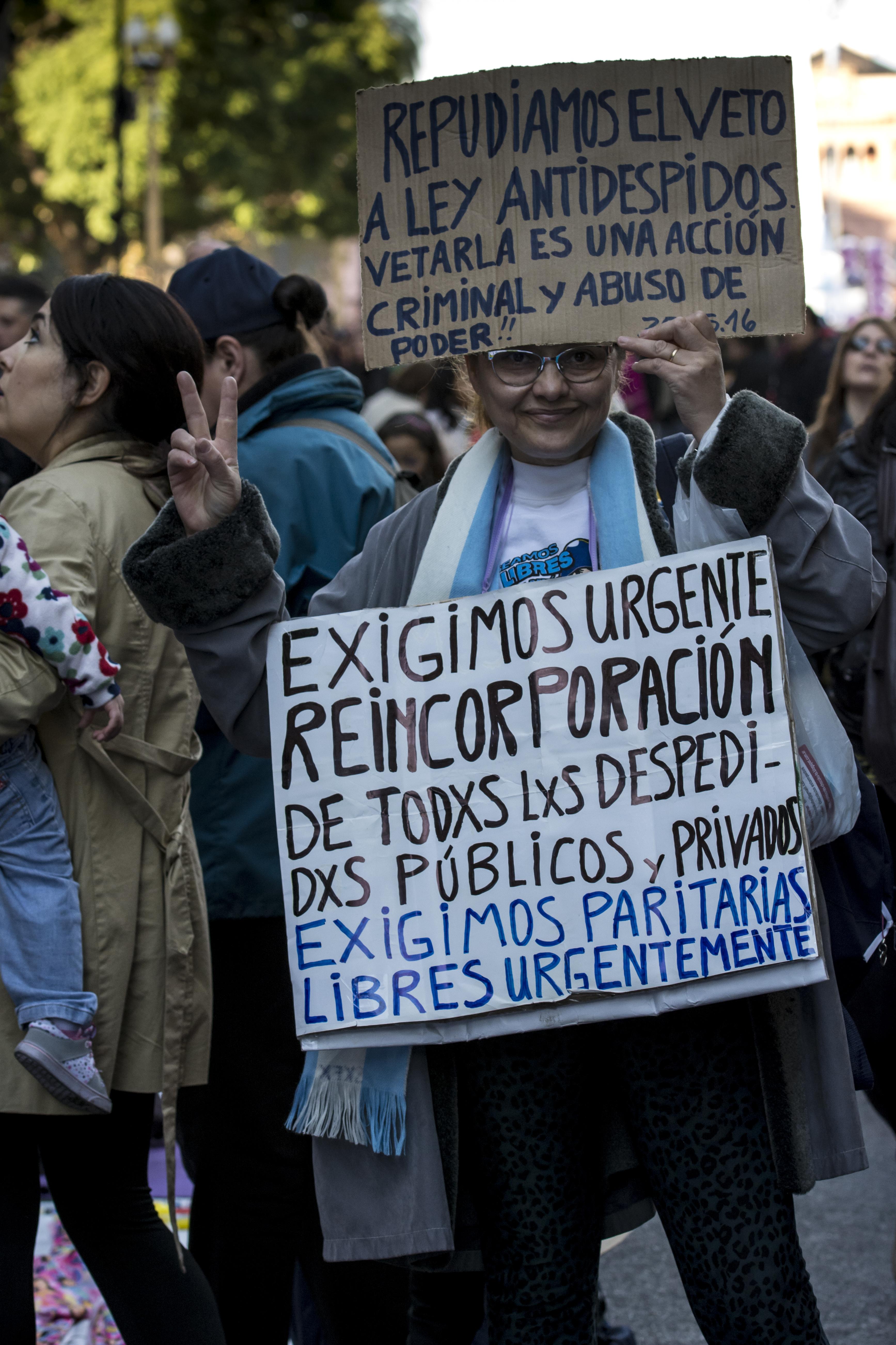 Sturmtief über Präsident Macri