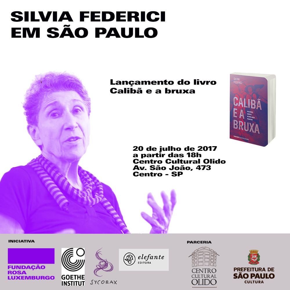 """Lançamento de """"Calibã e a bruxa"""" no Brasil"""