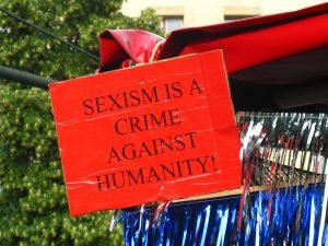 """""""Sexismo é crime contra a humanidade"""""""
