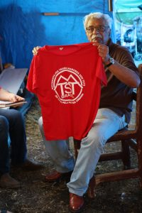 Taqri Ali on his visit to a MTST (Homeless Worker´s Movement) camp